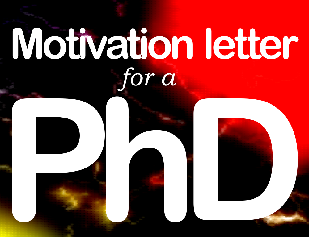 Write a letter to a phd