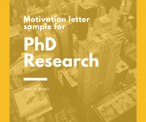 Motivation letter sample for a PhD Research