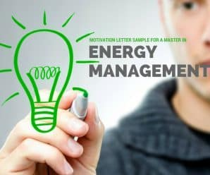 Motivation letter sample for a Master in Energy Management