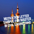 Motivation letter sample for a Master in Civil Engineering