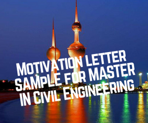 Motivation Letter For Master Degree In Civil Engineering Pdf