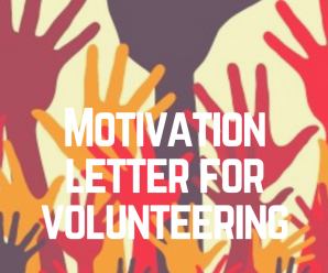 Motivation letter for volunteer work