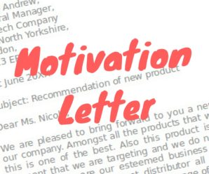 Motivational letter template for an internship