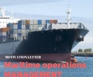 Motivation letter for Master in Maritime Operations Sample
