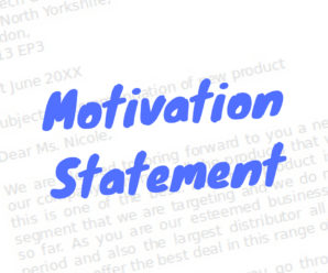 What is motivation statement?