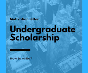 Sample motivation letter for undergraduate scholarship