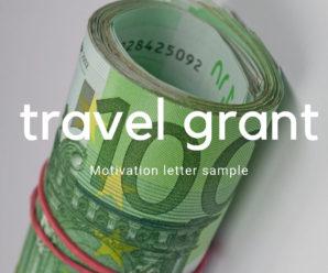 Motivation letter for travel grant sample