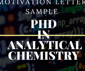 Motivation letter sample for a PhD in analytical chemistry